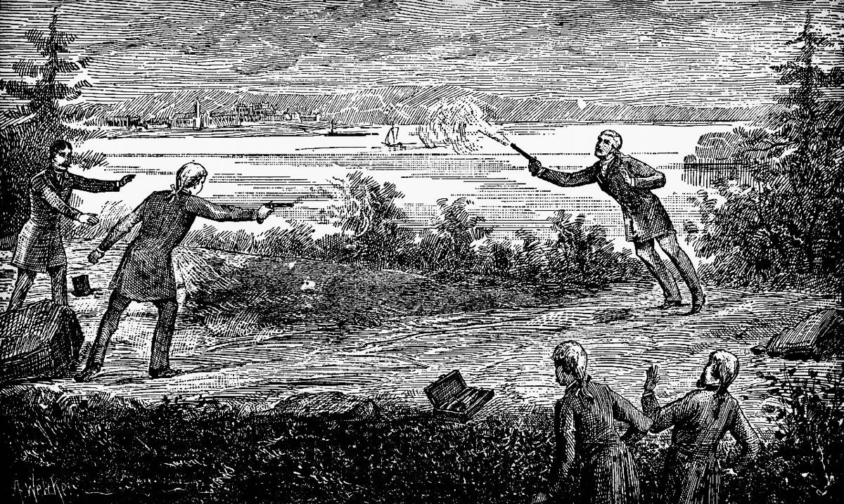 Hamilton's Duel to the Death in Weehawken