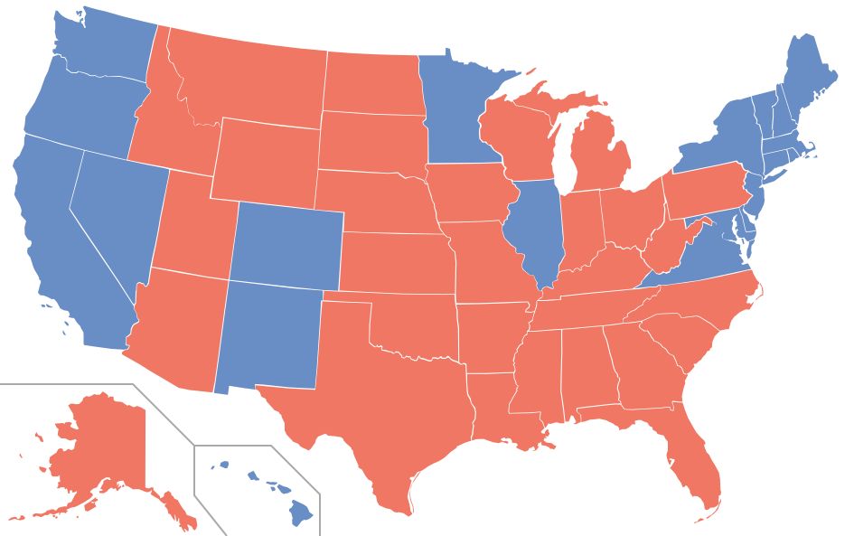 Four Theses On The Electoral College The American Interest - Us electoral college map